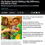 Kitsap Sun Article about Dr. Eric visiting 1st Graders